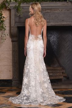 The April gown, from Claire Pettibone's 'The Four Seasons' bridal couture collection for 2017.