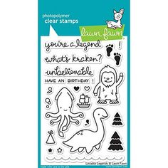 Lawn Fawn Clear Stamp Lovable Legends Lawn Fawn
