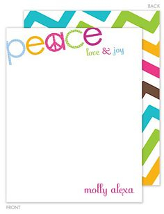 Peace Flat Note Cards