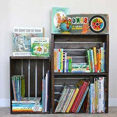 Professora Juce: Muitas ideias para o Cantinho da Leitura na Educação Infantil! Sunroom, Storage Organization, Bookcase, Preschool, Reading, Diy, Biscuit, Home Decor, Reading Corner Kids