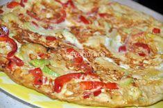 Tortilla (omleta) cu legume Pepperoni, Vegetable Pizza, Vegetarian, Vegetables, Vegetable Recipes, Veggies