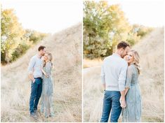 Dreamy Fall Engagement Photos Blue Flowy lacey dress in Boise Idaho Dresses For Engagement Pictures, Engagement Photo Outfits, Engagement Photo Inspiration, Engagement Couple, Engagement Photos, Fall Engagement, Engagement Photography, Engagement Session, Fall Photo Outfits