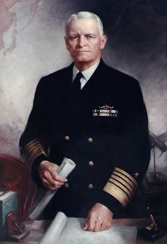 Fleet Admiral Chester William Nimitz (February 24, 1885 – February 20, 1966), was a five-star admiral of the United States Navy. He held the dual command of Commander in Chief, United States Pacific Fleet (CinCPac), for U.S. naval forces and Commander in Chief, Pacific Ocean Areas (CinCPOA), for U.S. and Allied air, land, and sea forces during World War II. He was the leading U.S. Navy authority on submarines, as well as Chief of the Navy's Bureau of Navigation in 1939.