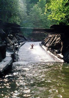Rockslide at Big Canoe, North Georgia Spent several summer days enjoying this slide then walking to the General Store for a root beer flavored candy stick. Malone Davidson