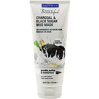 Freeman Feeling Beautiful Charcoal & Black Sugar Mud Mask: good quality, inexpensive rinse-off mud mask with clay and active charcoal; smooths and brightens skin, draws gunk out of pores; no skin-irritating ingredients; use twice a week after cleansing and before toner; $4.29 @ Ulta