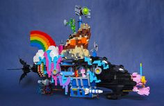 """""""We Can Make a Bat-submarine… (Patent Pending)"""": LEGO Movie Submarine Side View by Imagine Rigney"""
