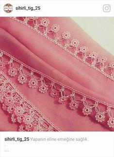 Crochet Ruffle, Crochet Trim, Knit Crochet, Crochet Borders, Tatting, Projects To Try, Embroidery, Beads, Sewing