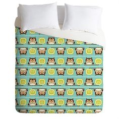 @rosenberryrooms is offering $20 OFF your purchase! Share the news and save!  Owl Town Teal Duvet Cover #rosenberryrooms