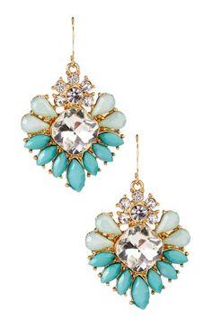 Olivia Welles Crystal & Resin Stone Sunburst Earrings by Jewerly $10 & Up on @HauteLook