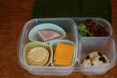"Back to School Lunch Ideas - She uses ""easy lunch box containers"" - have them and love them!"