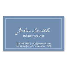 330 best massage business card templates images on pinterest simple blue massage therapist appointment card business card template fbccfo Images