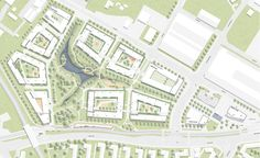 Read everything about competition results on Germany's largest architecture portal: Prize Albert Wimmer ZT-GmbH Site Master, Master Plan, Architecture Plan, Landscape Architecture, Plan Design, Layout Design, Plan Drawing, Site Plans, Urban Planning