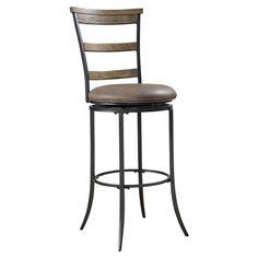 "Hillsdale Furniture Clara 26"" Swivel Bar Stool"