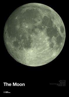 Atomic Printworks - The Moon - Glow in the Dark Print