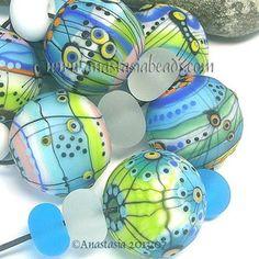 "Anastasia Lampwork Beads 7 ""Summertime"" SRA | eBay http://www.ebay.com/itm/261253809764?ssPageName=STRK:MESELX:IT&_trksid=p3984.m1555.l2649"