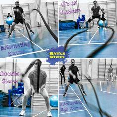 Variedad de Ondas con Battle ropes.