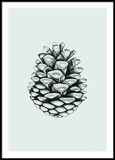 Modern poster med illustration