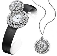 Alternately interpreted as a watch, a brooch or a pendant, it delights in offering a variety of pleasures.