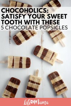 Chocoholics: Satisfy Your Sweet Tooth With These 5 Chocolate Popsicles #popsicles #homemadepopsicles #chocolatepopsicles #fudgsicles