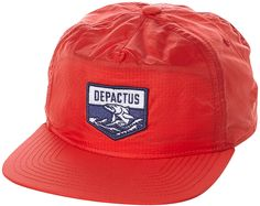 56052ae7726 Depactus Ula Fitted 5 Panel Cap Red Snapback Hats