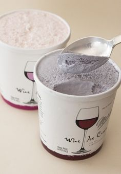 Wine Ice-Cream. 5% alcohol. This will revolutionize break-ups and girls nights.