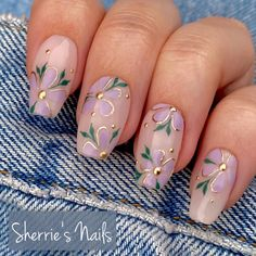 Daisy Nail Art, Daisy Nails, Flower Nails, Pink Nails, Floral Nail Art, Foil Nail Designs, Acrylic Nail Designs, Nail Design Stiletto, Jolie Nail Art