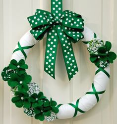 St. Patrick's Day Wreath. Love this one!