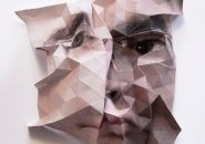 aldo tolino folds portraits into geometric facial landscapes