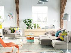 Favoriter ur kollektionen IKEA PS 2014 blir som glada utropstecken i vardagsrummet! SÖDERHAMN soffa.