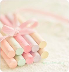 Chalk in pretty pastel colours