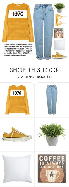 """smile like a sunshine"" by holly-k15 ❤ liked on Polyvore featuring Bella Freud, Topshop, Converse, Ethan Allen, Pier 1 Imports, Primitives By Kathy and STELLA McCARTNEY"