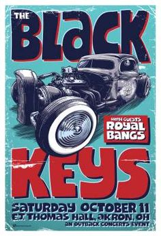 Black Keys - poster by Beyond The Pale