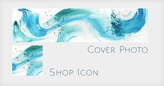 Abstract Watercolor Shop Banner Without Text  by mtnlaurelarts
