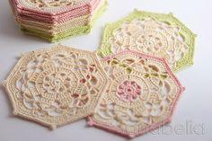 Crochet coasters by Anabelia Handmade #freepattern