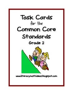 A Great Value! This collection of 46 task cards is aligned to the Grade 2 Common Core Standards for reading. These task cards cover ALL of the major categories of the Common Core Standards. These task cards cover both the literature (fiction) and informational (nonfiction) areas. Use them with any book. Open-ended progress charts have also been included!