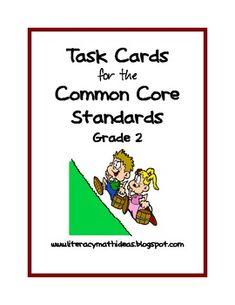 Common Core Standards Task Cards:  Grade 2