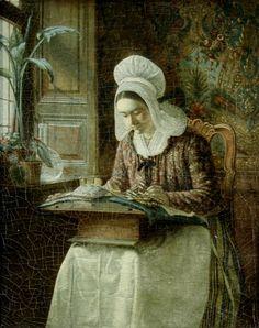 Dutch School 18th century The Lace Maker.