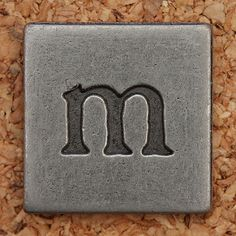 Pewter Lowercase Letter m | by Leo Reynolds