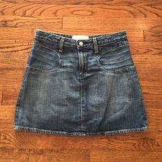Paper Denim and Cloth jean skirt Paper denim and cloth mini skirt. Hits mid thigh. Perfect for summer. Paper denim&cloth Skirts Mini
