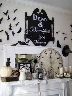 Wonderfully decorated for Halloween! Arbor House Lane: It's Getting A Little Spooky Around Here