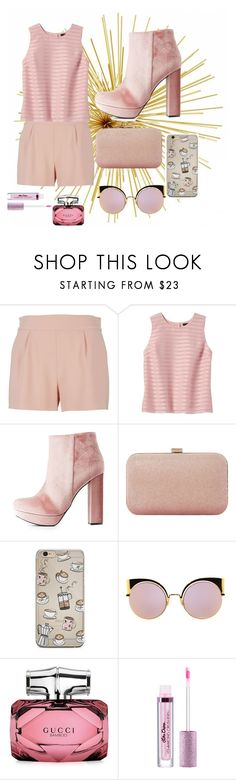 """""""Spring #2"""" by angelfriend ❤ liked on Polyvore featuring Moschino, Banana Republic, Charlotte Russe, Dune, Fendi, Gucci, love, nice, cookie and pinky"""