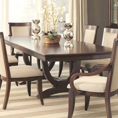 Trestle Dining Table Coaster Home Furnishings Amazon