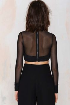 Rise of Dawn Double Play Mesh Crop Top - Tops