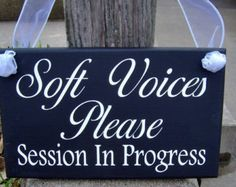 Door Knob Hanger In Session Wood Vinyl Sign Office Spa Salon