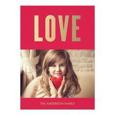 Love | Valentine's Day Photo Card Announcement