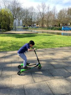 Yvolution y fliker kids scooter air series age 5+ - This is so cool!