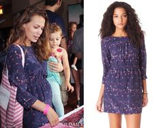 Another fashion update! Joy's dress from Pre-Emmy Gifting Lounge: Boom Boom Baby Room is a Madewell Taylor Birds Dress ($170). From Shopbop alas currently sold out.:(