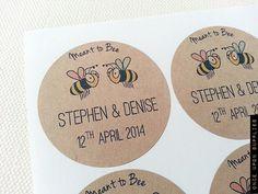 120 Honey Bee Labels  Custom Honey Jar Wedding by OnceUponSupplies, $60.00