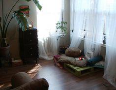 Peaceful meditative room