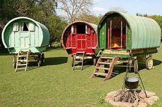 Gypsy caravans (pic:sm). You can truly get away from it all - and come ...    mirror.co.uk